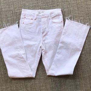 Zara White High-rise denim jeans. Size 2